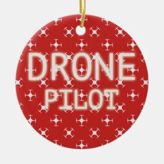 Piloto del abejón adorno navideño redondo de cerámica