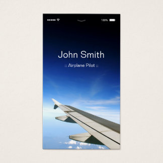 Piloto del aeroplano - estilo plano adaptable de tarjeta de visita