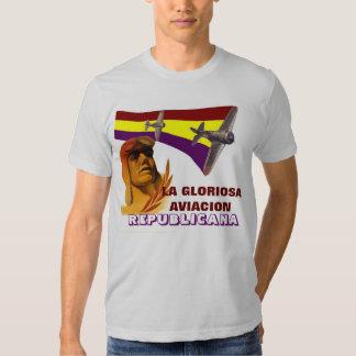 Piloto español 1936 de Figther de la república Camisetas