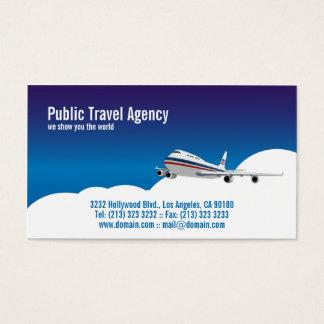 Piloto o agencia de viajes tarjeta de visita