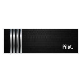 Piloto - rayas de plata negras tarjeta de visita