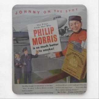 Piloto y Stewarde del anuncio del cigarrillo del Alfombrilla De Ratón