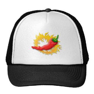 Pimienta con la llama gorras