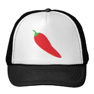 Pimienta de chile candente gorras