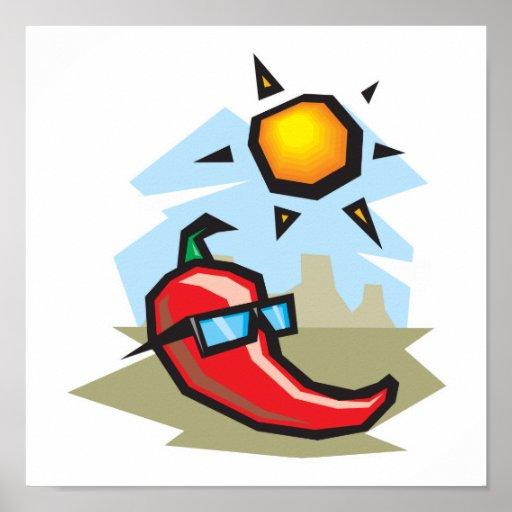 pimienta de chile del chillin poster