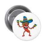Pimienta de chile mexicana chapa redonda de 5 cm