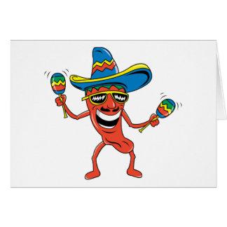 Pimienta de chile mexicana tarjetón