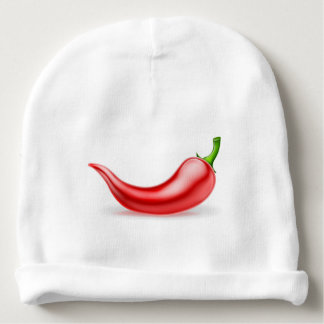 Pimienta de chiles rojos gorrito para bebe