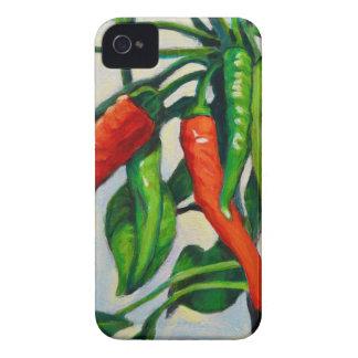 Pimientas de chile carcasa para iPhone 4