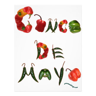 Pimientas de chile de Cinco de Mayo Folleto 21,6 X 28 Cm