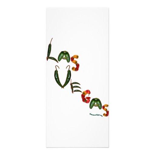 Pimientas de chile de Las Vegas Diseños De Tarjetas Publicitarias