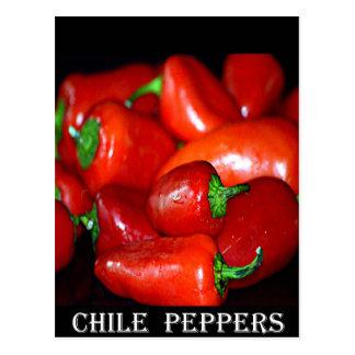 Pimientas de chile de New México (Chile) Tarjeta Postal