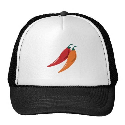Pimientas de chile gorras