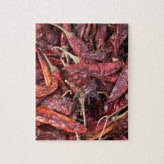 Pimientas de chile secadas puzzle