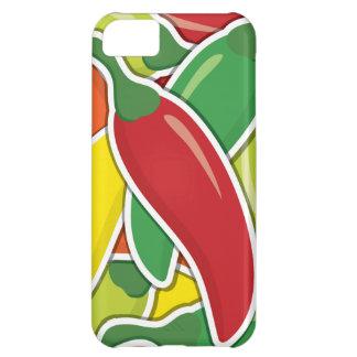 Pimientas de chiles mezcladas enrrolladas funda para iPhone 5C