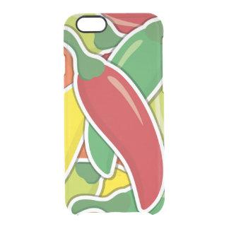 Pimientas de chiles mezcladas enrrolladas funda transparente para iPhone 6/6S