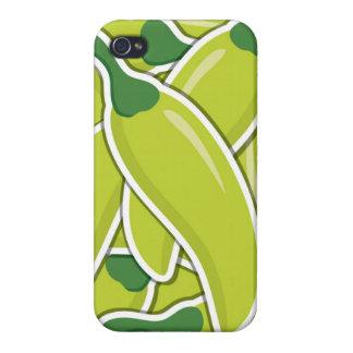 Pimientas de chiles verdes enrrolladas iPhone 4/4S fundas