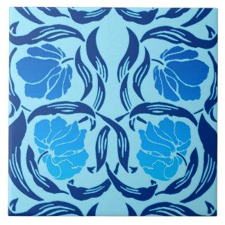 Pimpernel, dril de algodón y azul claro de William Azulejo De Cerámica