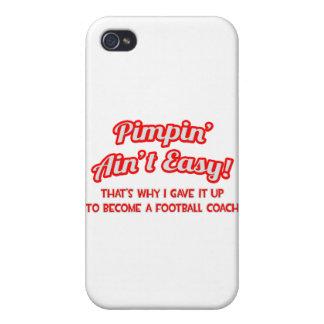 Pimpin no es fácil. Entrenador de fútbol iPhone 4 Fundas
