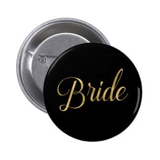 Pin a juego de la novia del pelotón de la novia chapa redonda de 5 cm