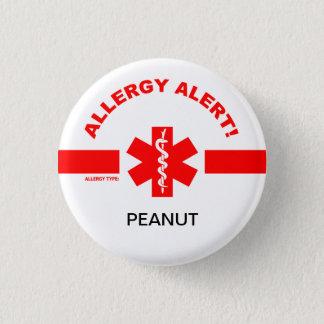 Pin adaptable de la alarma de la alergia chapa redonda de 2,5 cm