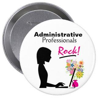 Pin administrativo de la roca de los profesionales chapa redonda de 10 cm