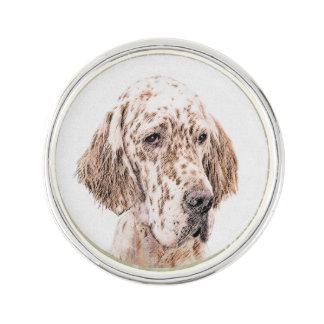 Pin Arte anaranjado del perro de la pintura de Belton