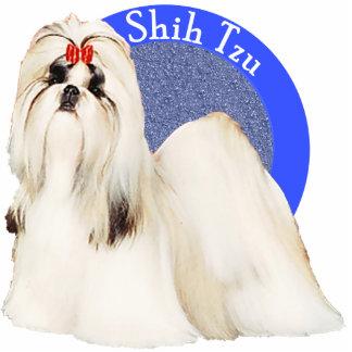 Pin azul de la foto de Shih Tzu Escultura Fotográfica