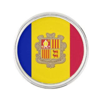 Pin Bandera patriótica de Andorra