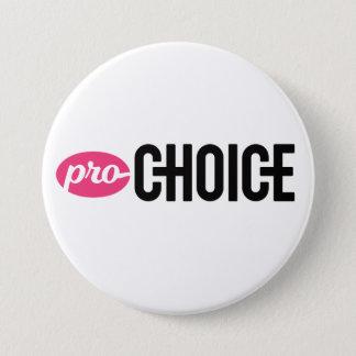 Pin blanco proabortista del botón de 3 pulgadas
