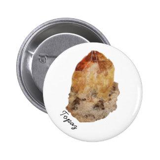 Pin cristalino del botón del Topaz