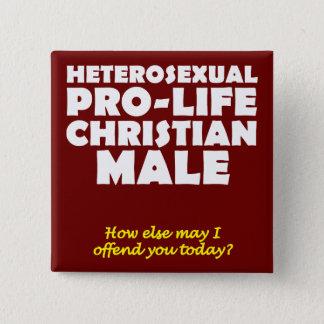 Pin cristiano masculino Prolife ofensivo del botón