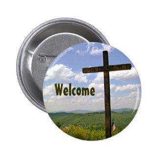Pin cruzado cristiano de Greeters de la iglesia