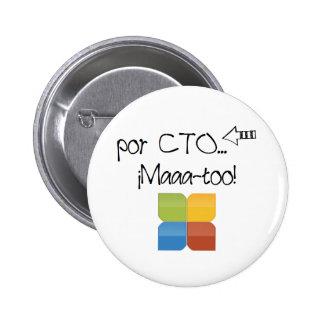 Pin de academia CTO Chapa Redonda De 5 Cm
