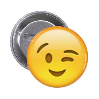 Pin de Emoji del guiño