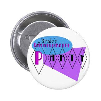 Pin de encargo de la púrpura Bachelorette del Chapa Redonda De 5 Cm