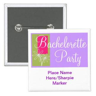 Pin de encargo del cuadrado del fiesta de Bachelor