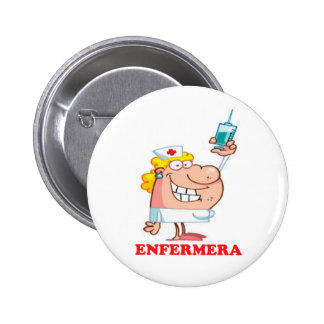 Pin de enfermera divertida chapa redonda de 5 cm