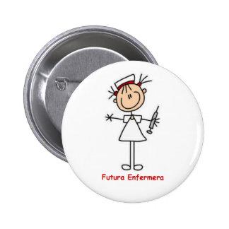 Pin de futura enfermera chapa redonda de 5 cm