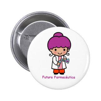 Pin de futura farmacéutica chapa redonda de 5 cm