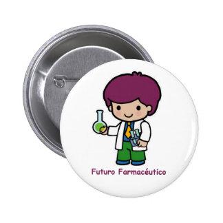 Pin de futuro farmacéutico chapa redonda de 5 cm
