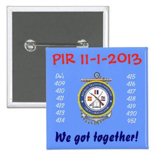 PIN de la graduación PIR Chapa Cuadrada