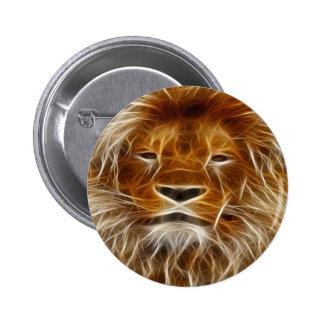 Pin de la impresión de la cabeza del león de Brown Chapa Redonda De 5 Cm