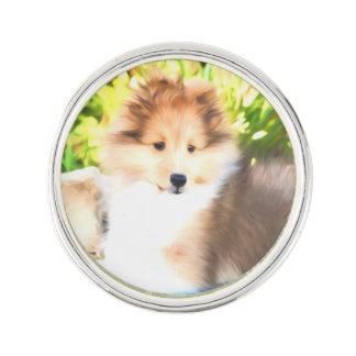 Pin de la solapa del perrito de Sheltie del perro