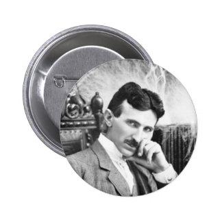 Pin de Nikola Tesla Chapa Redonda De 5 Cm