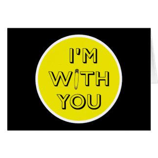 Pin de seguridad - Estoy con usted Tarjeta De Felicitación
