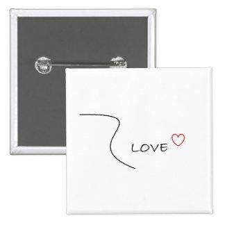 Pin del amor con la línea diseño chapa cuadrada