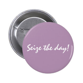 . Pin del botón - Agarre el día. Violeta