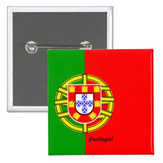 Pin del botón/de la solapa de la bandera de Portug Chapa Cuadrada