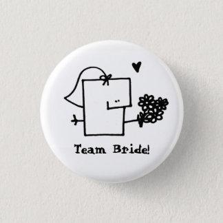 Pin del botón de Meepple de la novia del equipo